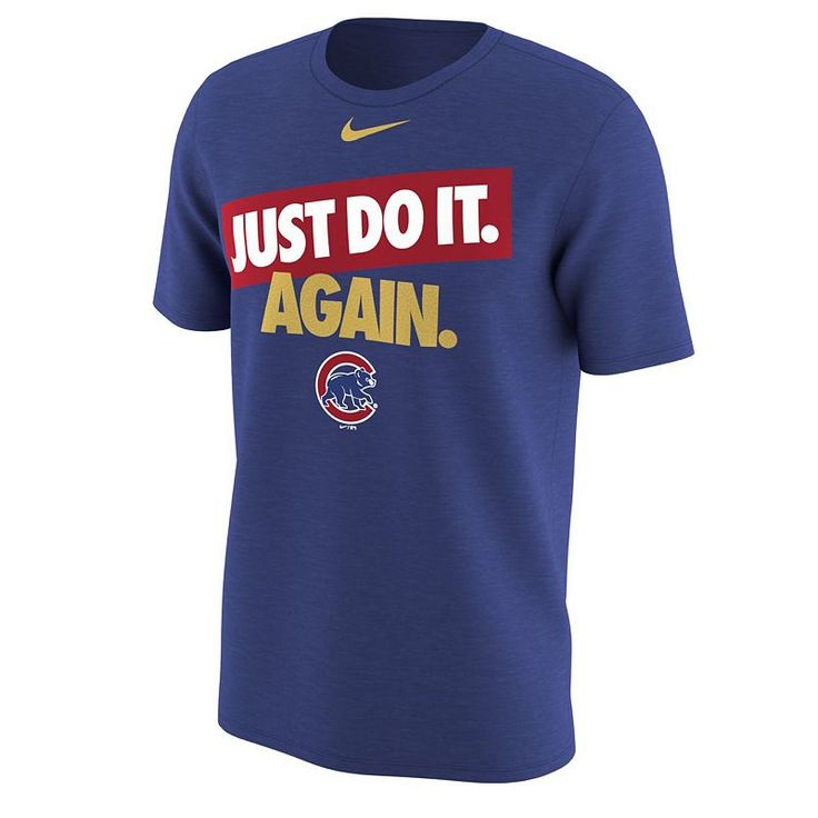 Men's Nike Chicago Cubs Opening Day Tee, Size: Medium, Blue