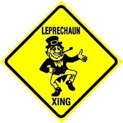 LEPRECHAUN CROSSING irish luck NEW sign by Texsign. $21.95. Easy to install. GREAT Gift idea. Brand New Sign. Long Lasting. MADE IN USA. LEPRECHAUN CROSSING SIGN. A BRAND NEW SIGN!! Made of thick (.040in.) aluminum and tough cast vinyl this sign is 12in. wide and 12in. tall. Made to last for years outdoors also makes a great display indoors. Comes with 2 holes pre-punched for easy installation, corners are rounded. Buyer to pay $7.00 shipping anywhere in the USA, othe...