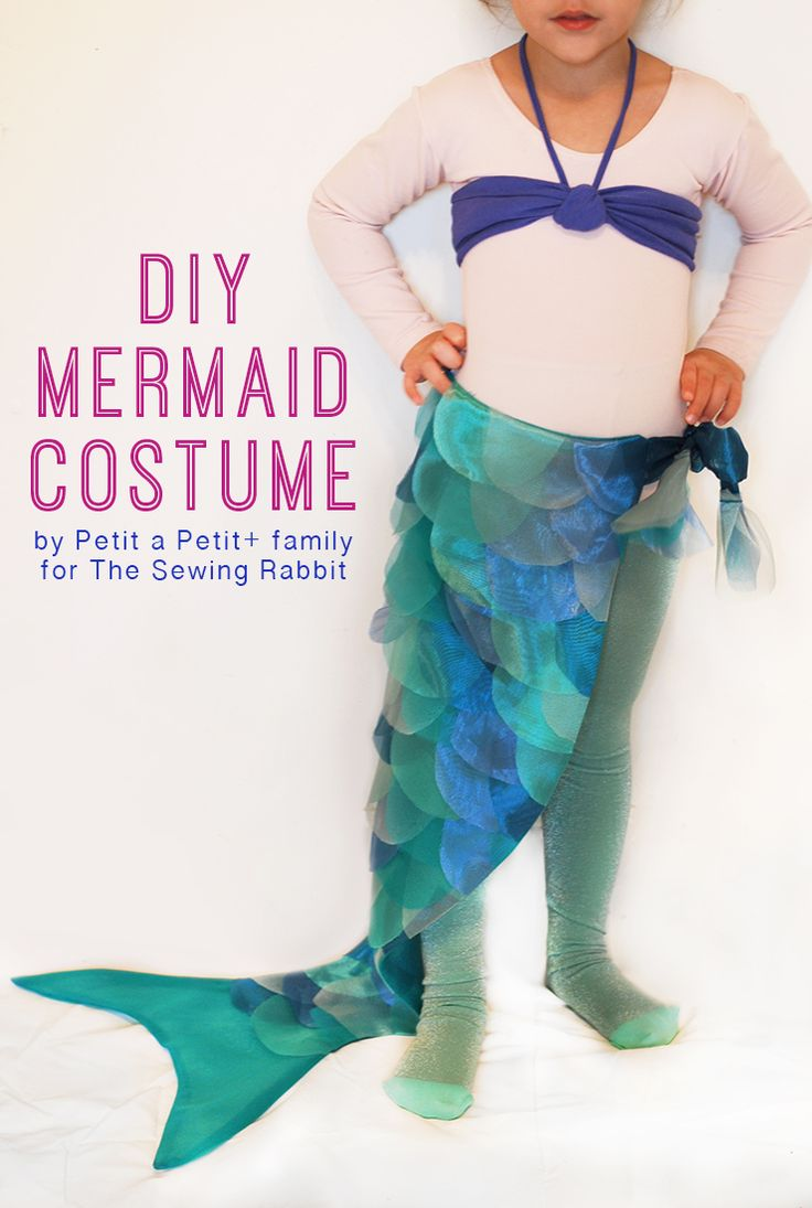 DIY Mermaid Costume - The Sewing Rabbit -- only the tail. My 3 yo doesn't need a seashell bra...