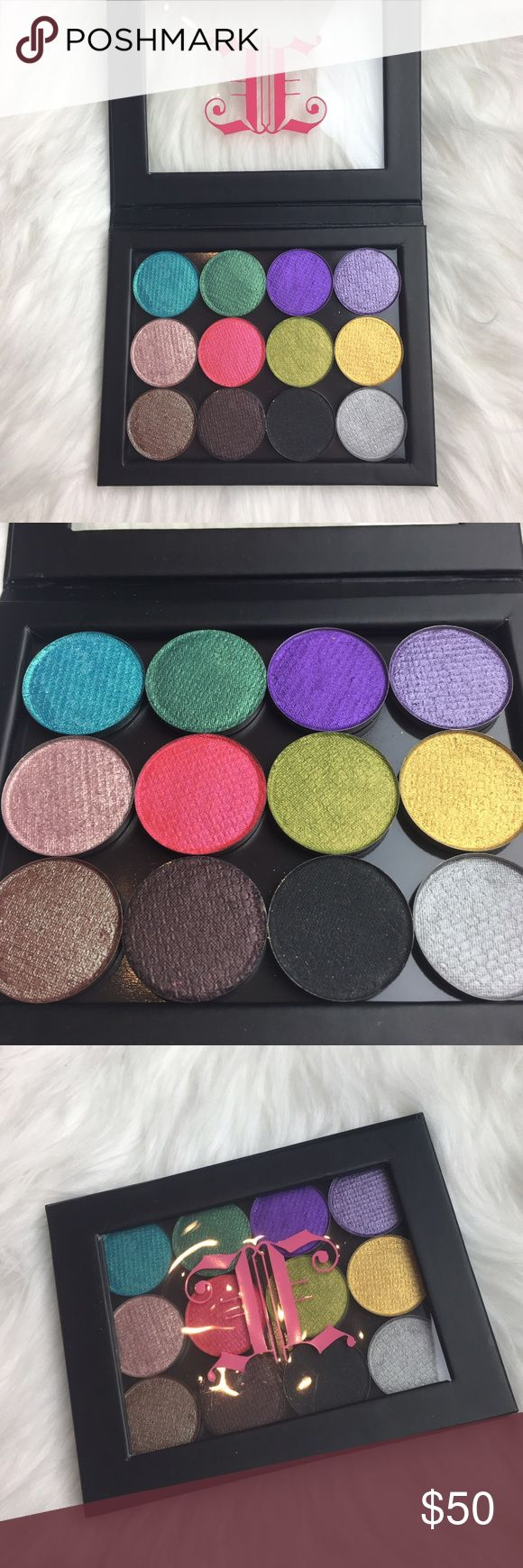New vegan pro pigmented 12 pan eyeshadow palette This palette contains 12 brand new pigmented pro vegan eyeshadows. I'm including the palette free with purchase!  Each single shadow retails for $10 & is from the indie brand Johnny Concert. Never been used. Wet/dry formula. Johnny Concert products are formulated without:   NO FD&C DYES NO TALC NO PARABENS NO PHTHLATES NO BHA & BHT NO BISMUTH OXYCHLORIDE NO GLUTEN NO ANIMAL BY PRODUCT NO ANIMAL TESTING NO SYNTHETIC FRAGRANCE Makeup Eyeshadow