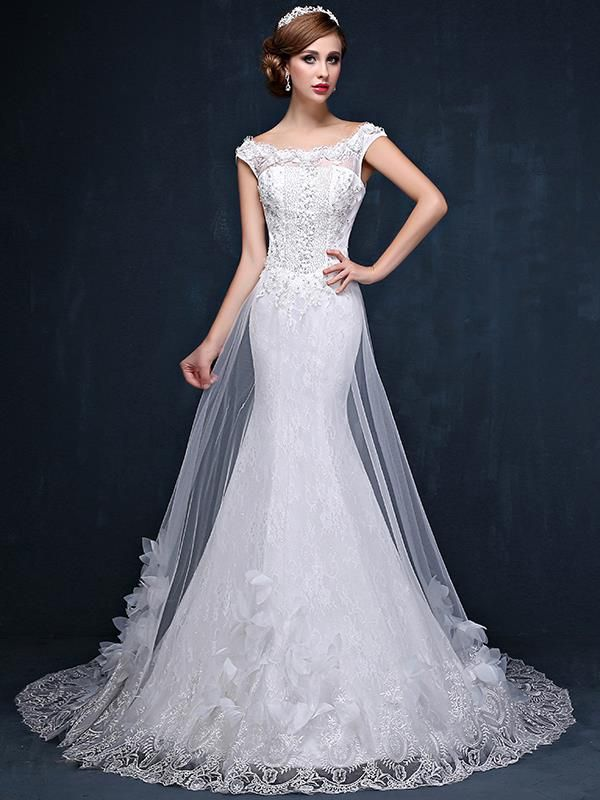 Doresuwe.com SUPPLIES 2016新品 双肩 着心地最高 のロングドレス 結婚式ドレス 花嫁ドレス ウェディングドレス ウェディングドレス-2016