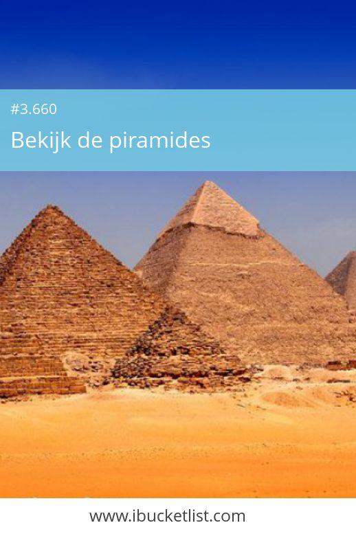 Egypte is in totaal zo'n 80 piramides rijk, Altijd al eens de piramides willen bezoeken? Wacht niet tot later, leef je bucketlist nu! Maak je dromen waar.
