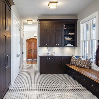 Mudroom with Dark Cabinets, Transitional, Laundry Room, Astro Design Center