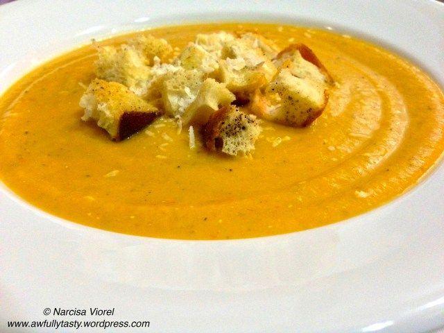 Vegetables cream soup! Supa crema de legume.