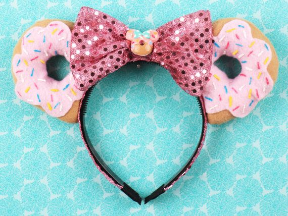 The Original Donut Mouse Ear Headband with by ModernMouseBoutique