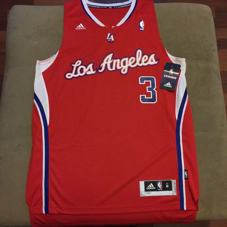 Adidas Chris Paul #3 Los Angeles Clippers Swingman Road Red Jersey Size Medium #adidas #LosAngelesClippers