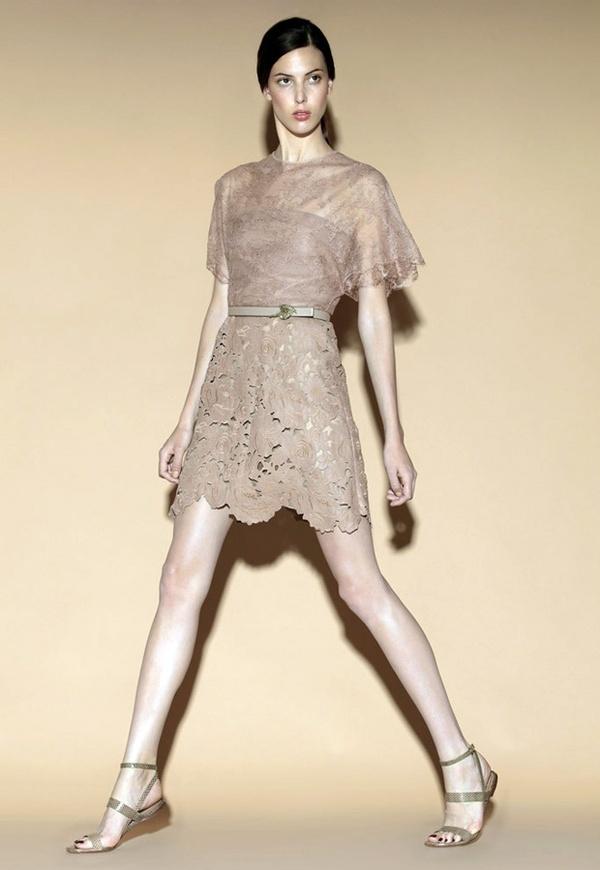 lace soft sixties-style dress