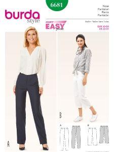 burda style: Damen - Plus (bis Größe 60) - Hosen & Overalls - Hose – 3/4 Hose – schmale Beine