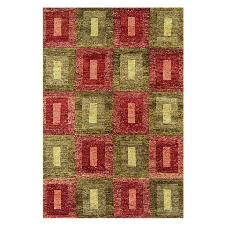 Noble House Legacy Area Rug - Green/Rust - LEG15051014