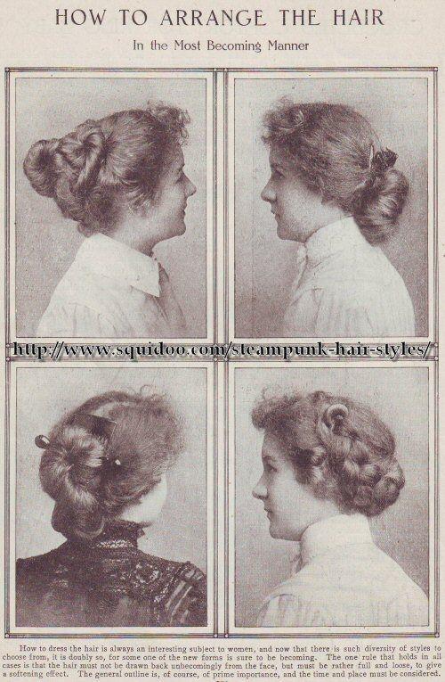 estilo de pelo de la revista de estilo eduardiano  1900-1910