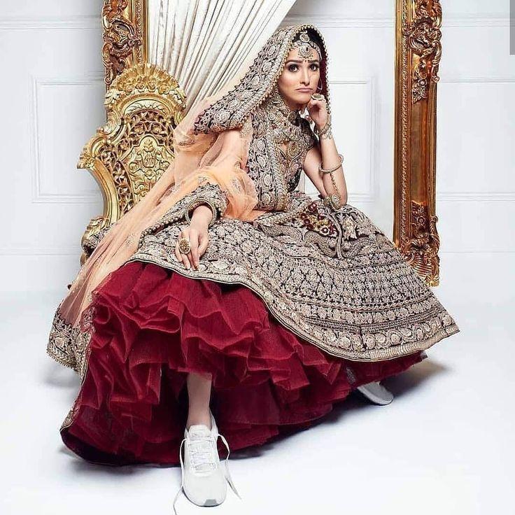 Bride in sneakers in 2020 Indian bridal dress, Bridal