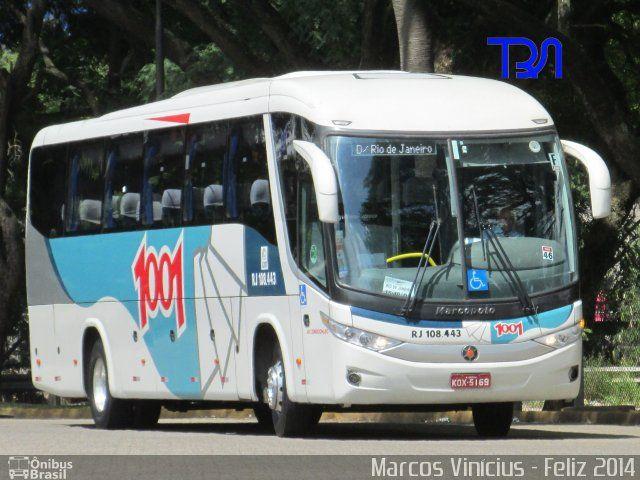 Ônibus da empresa Auto Viação 1001, carro RJ 108.443, carroceria Marcopolo Paradiso G7 1050, chassi Volvo B11R. Foto na cidade de São Paulo-SP por Marcos Vinícius - Feliz 2014, publicada em 31/12/2013 20:38:01.
