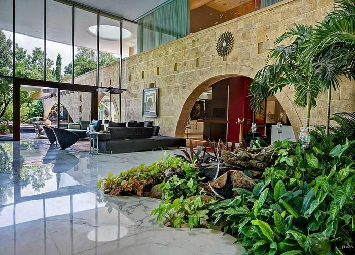 Living Room Designs #Tao #Architecture #Nest #luxury #residence #malad #stone #wall #cross #plan #interior #landscaping #intexterior #glazing #views #pune