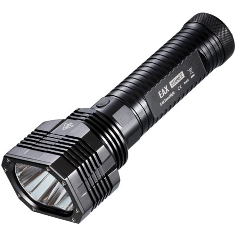 """Nitecore EAX """"HAMMER"""" coming soon...  With an LED that looks like it's in the middle of mitosis, the Nitecore EAX  """"HAMMER"""" is about to drop!  Eight (8) standard AA batteries feeds two CREE XM-L2 T6 LEDs for a whopping of 2000 lumens. With throw up to 490 meters, this impact resistant light qualifies as Thor's backup weapon.  Order by May 11th and receive a $10 HID Canada gift card valid for your next purchase!   #hidcanada #hid #flashlights #hammer #nitecore"""