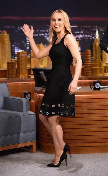 Kristen Bell Little Black Dress - Kristen Bell Looks - StyleBistro
