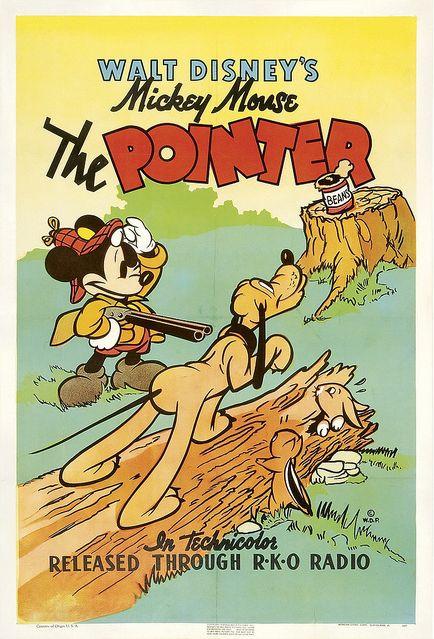 The Pointer 1939 Disney movie short cartoon poster Mickey Mouse Pluto