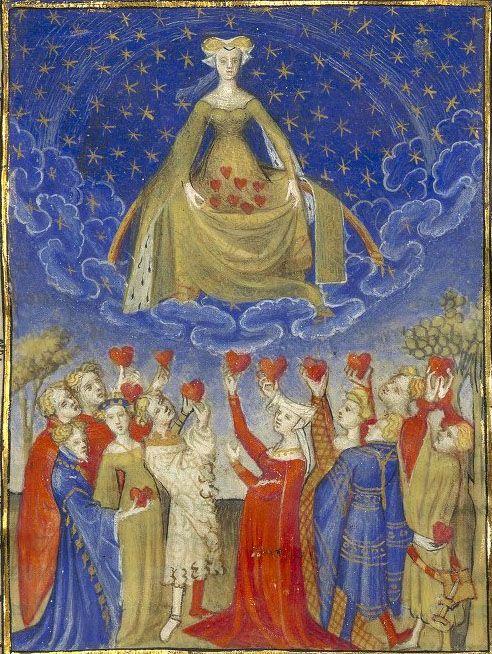 The Influence of Venus, Christine de Pizan, Épître d'Othéa, Paris, c.1406. Bibliothèque nationale de France, Français 606 f. 6.