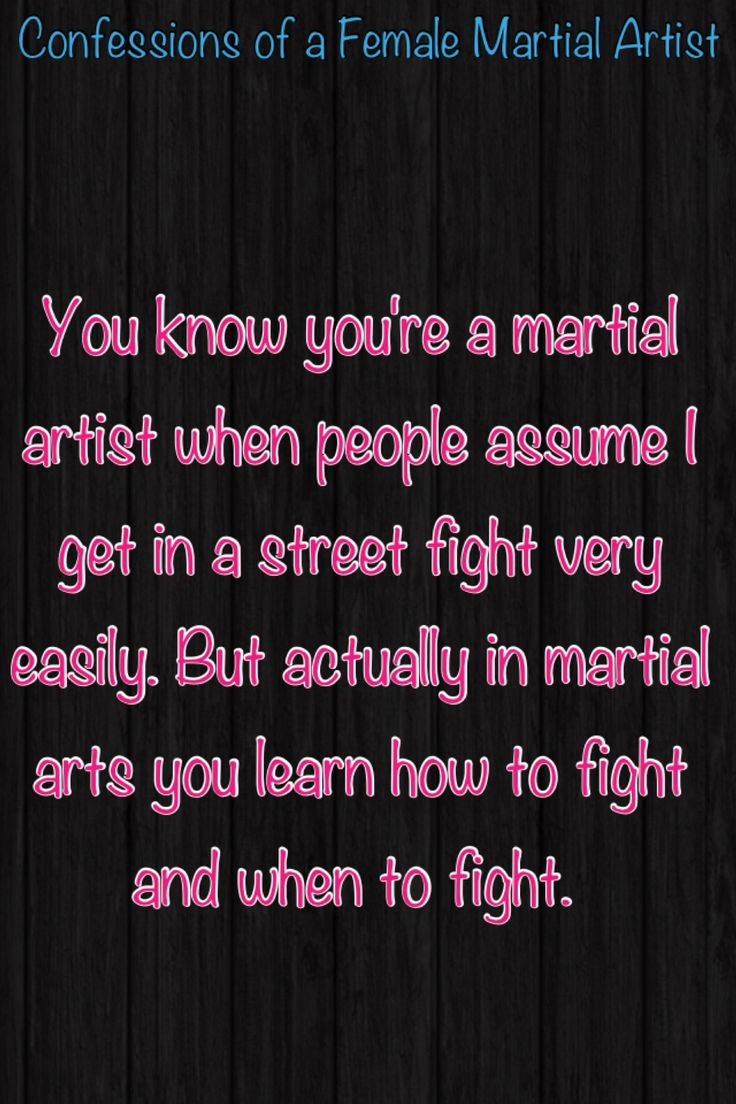 You know you're a martial artist when