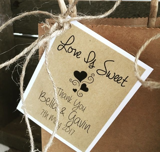 Love is sweet lolly bags  https://www.facebook.com/Vintage-La-Belle-338250569638539/
