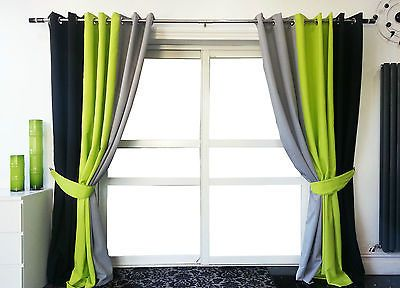 Green Curtains black and green curtains : 17 Best ideas about Black Eyelet Curtains on Pinterest | Black ...