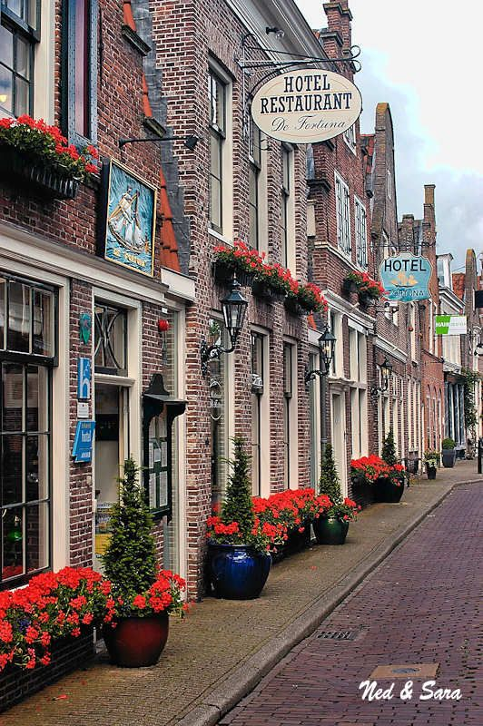 Street in Edam where my Opa's family lived for many generations.