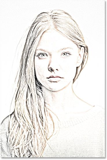 A photo to color sketch effect created in Photoshop CS6. Image © 2013 Photoshop Essentials.com