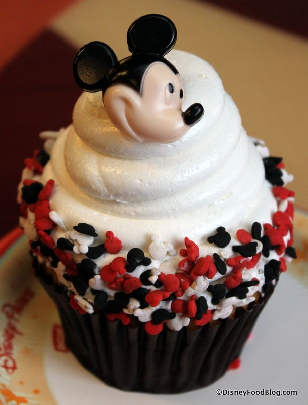 Amazing Disney World cupcake:  Contempo Cafe's Mickey Cupcake!  Check out the surprise inside!