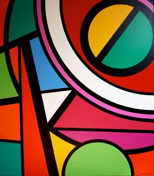 Jean-Paul Jérôme - 1992 : Le carnaval du sud IV   (190,5 x167,6 cm : Acrylique sur toile de coton)