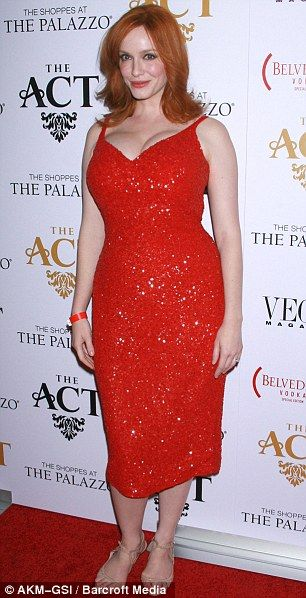 Need this dress! Take it as red: Yes, Christina was the sexiest woman at the event, nay, the sexiest woman in Vegas