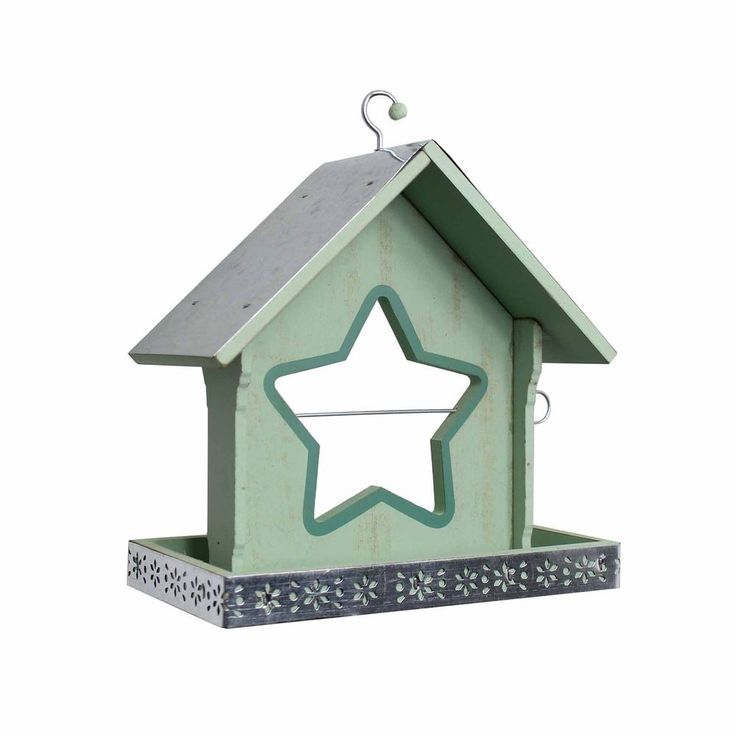 Garden Bird Feeder For Seed or Nuts Green with Centre Star Shaped Apple Holder #Gardens2you