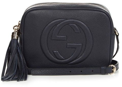 #GUCCI Soho grained-leather cross-body bag