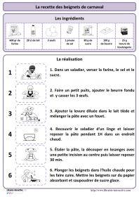 Une recette simple pour réaliser des beignets de carnaval, plusieurs affiches et des documents pédagogiques pour l'exploiter en maternelle (PS MS et GS) et au cycle 2 (CP et CE1) au moment du carnaval ou à d'autres moments de l'année.