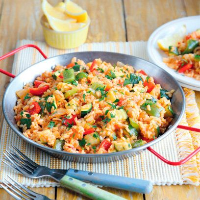 Vegetarian paella recipe. For the full recipe, click the picture or visit RedOnline.co.uk