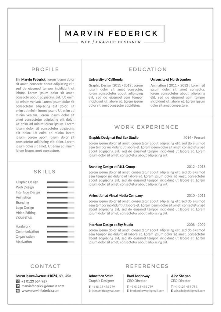 Resume Template/CV Template + Cover Letter + Business Card