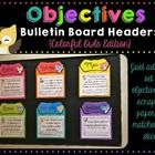 You are purchasing a set of six objective headers that you can use with scrapbook paper of your choice to display your objectives.   The colors are...