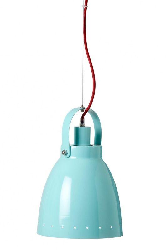 Metalen lamp - Turquoise | Zoopreme | Gras onder je voeten | Met koraal oranje/rood snoer | Silly U (ook in geel en roze)