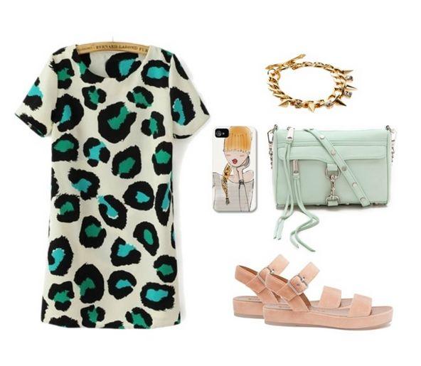 Como llevar un vestido de leopardo