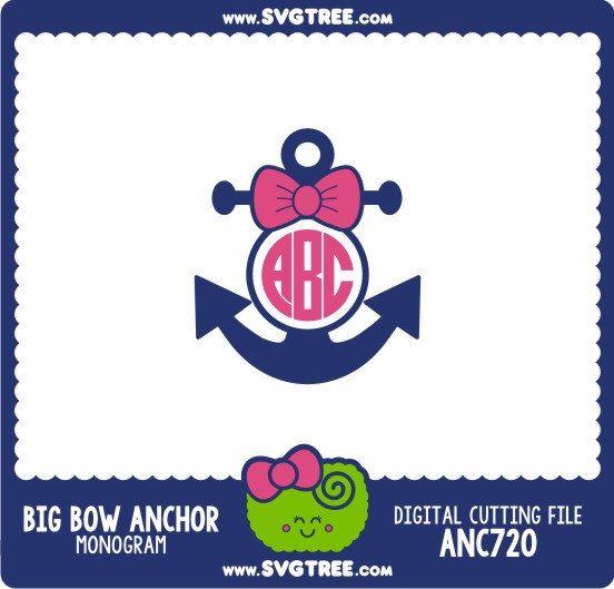 Anchor Monogram, Preppy Monogram, Bow, Nautical, SVG Files, DXF Files, Vector Art, Cricut Design Space, Silhouette Studio, Digital Cut Files by SVGTREE on Etsy https://www.etsy.com/listing/221727501/anchor-monogram-preppy-monogram-bow