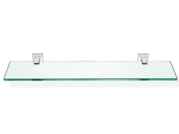 Bathroom glass shelf