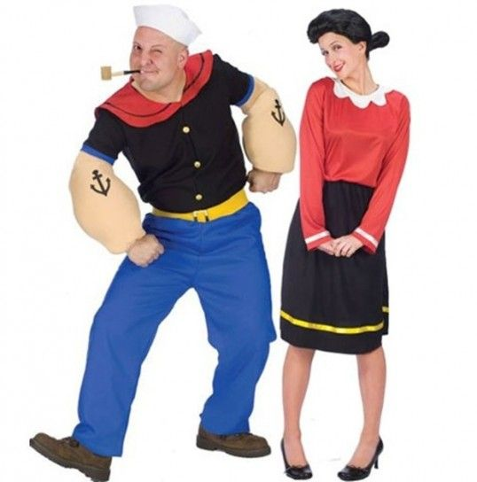 best 25 popeye costume ideas on pinterest funny couple costumes halloween couples and couple. Black Bedroom Furniture Sets. Home Design Ideas