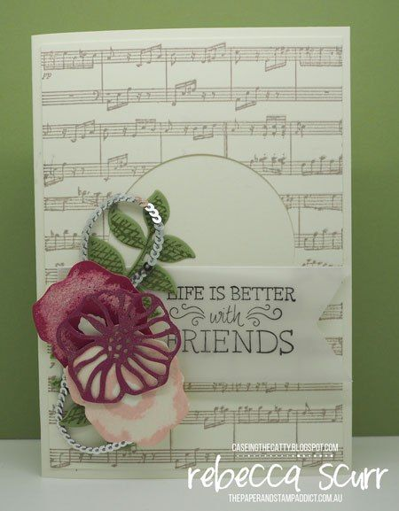 CTC133, Sheet Music, Just Add Text, Oh So Eclectic, Eclectic Layers thinlits- Rebecca Scurr -Independent Stampin' Up! demonstrator - www.facebook.com/thepaperandstampaddict