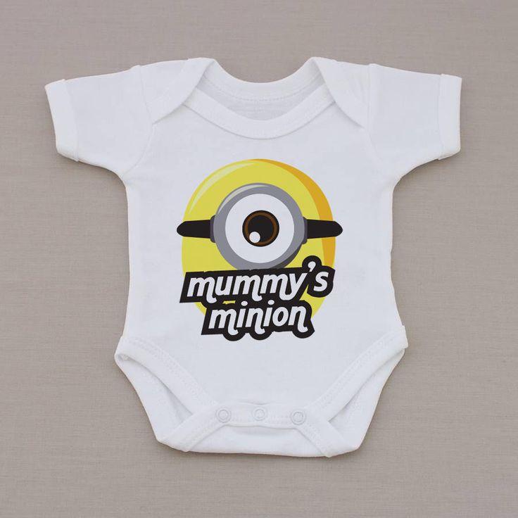 Mummy's/Daddy's Minion Baby Girl / Boy baby grow vest, Baby Shower, Christening