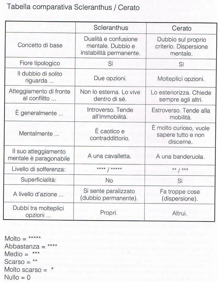 Cerato e Scleranthus