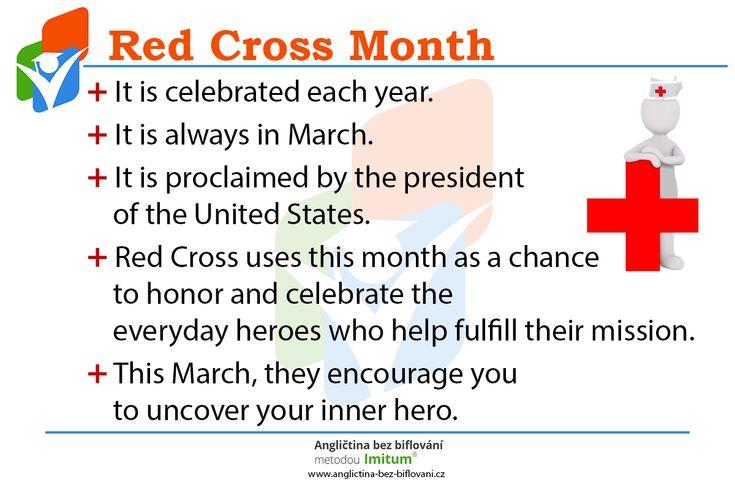 Březen je v USA každoročně vyhlášen jako měsíc Červeného kříže! ➕  Letos je jejich hlavním programem probudit hrdinu v každém z nás. 💪 Přidáte se? 🇺🇸 #RedCross #RedCrossMonth #USA #March #English #Facts #CervenyKriz #Anglictina #AnglictinaBezBiflovani