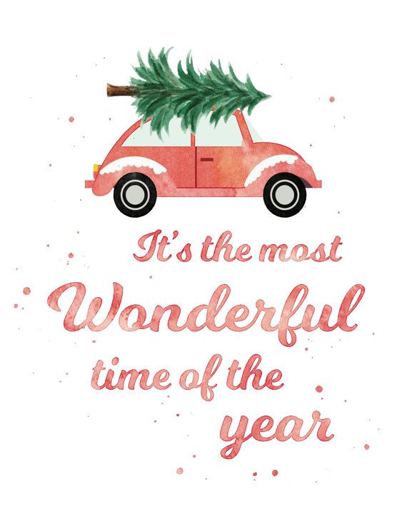 This is my favorite design this Christmas (2016)!!! I just. Ought it and I am SO happy!! ❤️Christmas Tree on top on car print by dashingdesignstudio on Etsy
