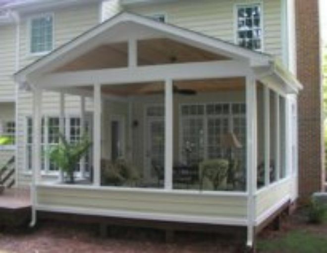 17 best ideas about small screened porch on pinterest for Screen room addition plans