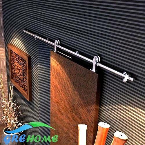6.6 FT SS 304 barn wood sliding door fittings