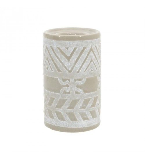 CERAMIC CANDLE HOLDER IN OLIVE 10X10X16