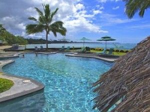Coconuts Beach Club in Samoa has overwater fales, a swim-up bar and onsite dive centre.