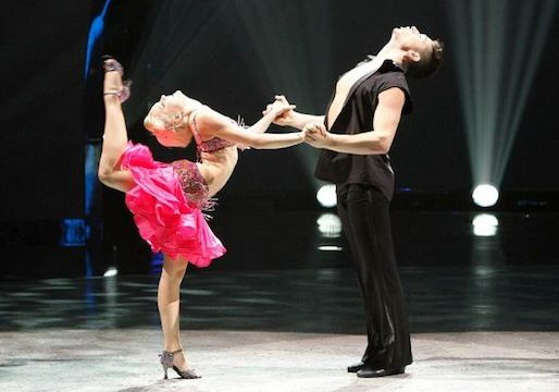 "Malece Miller and Alan Bersten dance a salsa choreographed by Jonathan Platero to Tito Puentes' ""Pa' Los Rumberos"" on So You Think You Can Dance, season 10."